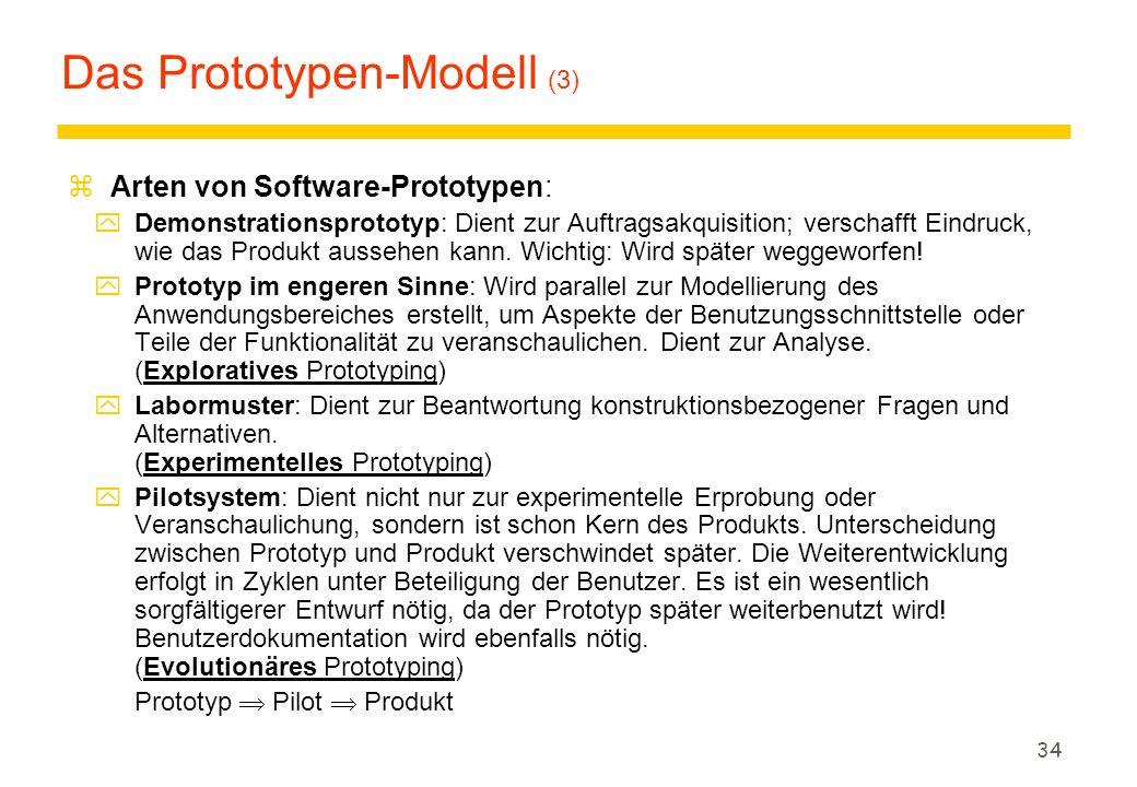 Das Prototypen-Modell (3)