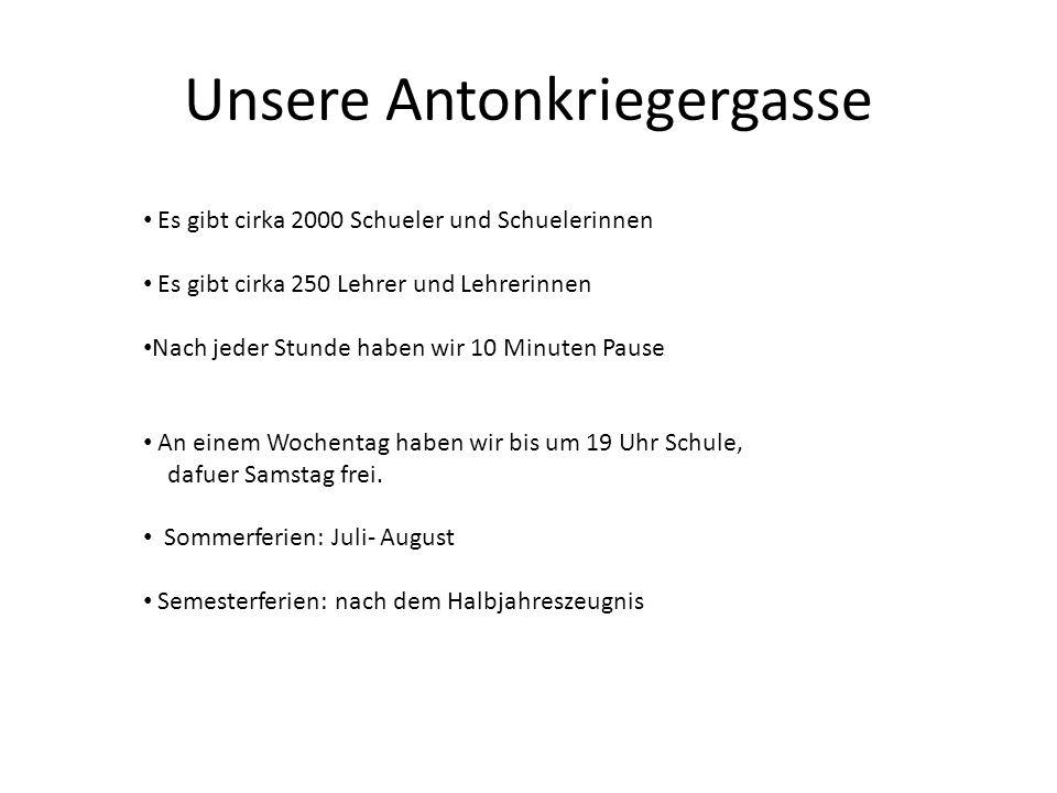 Unsere Antonkriegergasse