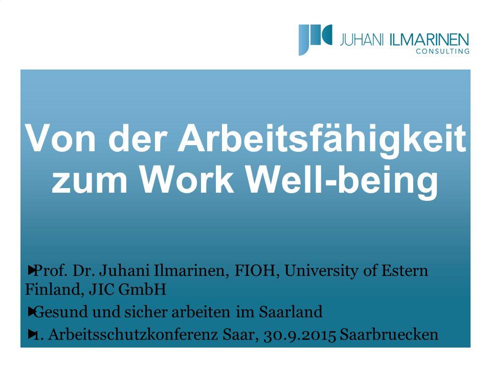 Von der Arbeitsfähigkeit zum Work Well-being