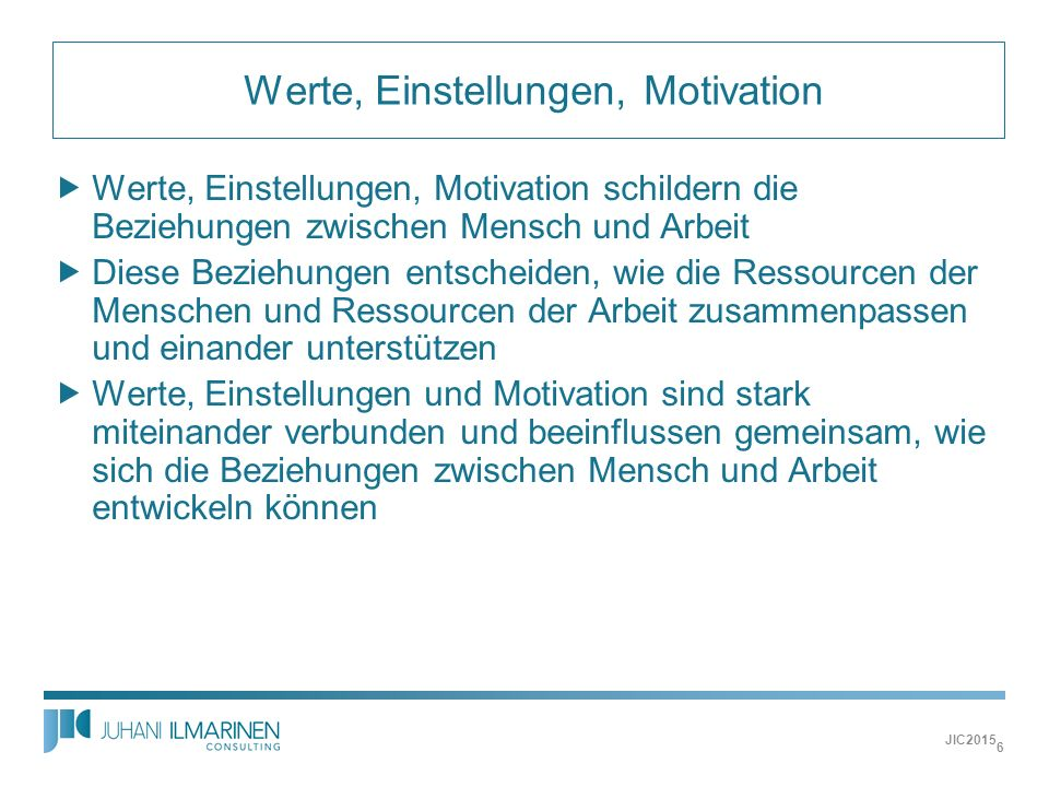 Werte, Einstellungen, Motivation