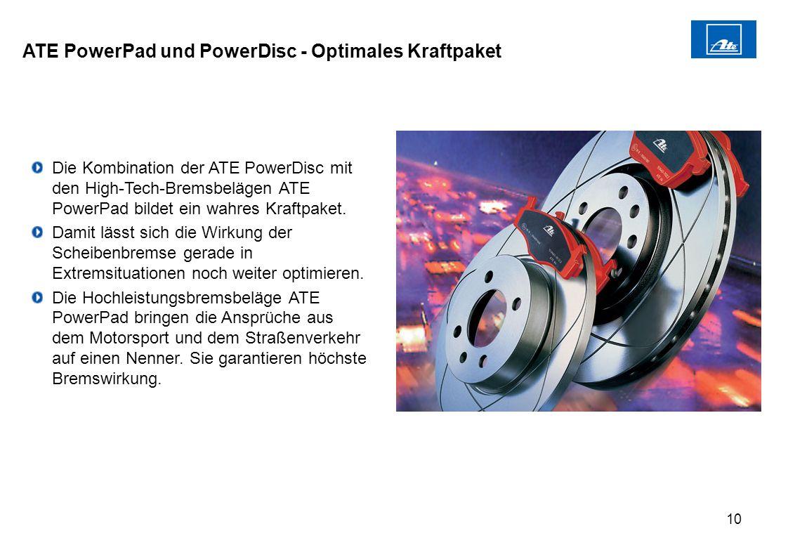 ATE PowerPad und PowerDisc - Optimales Kraftpaket