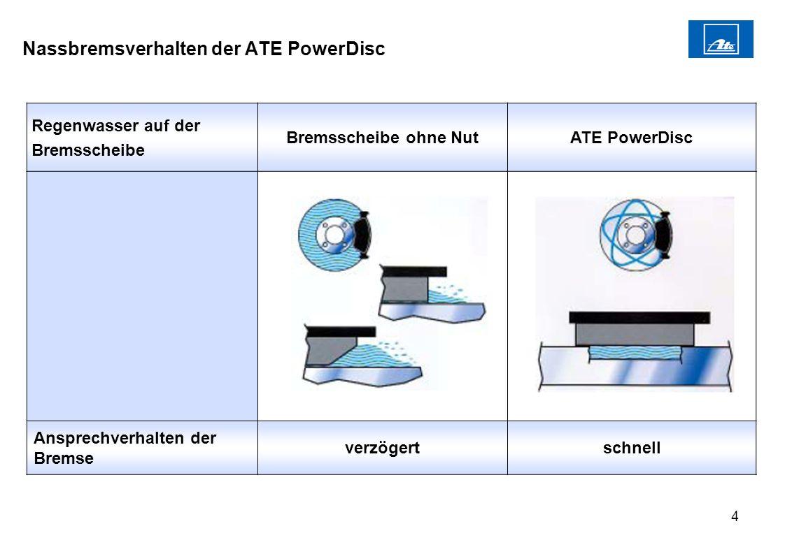 Nassbremsverhalten der ATE PowerDisc