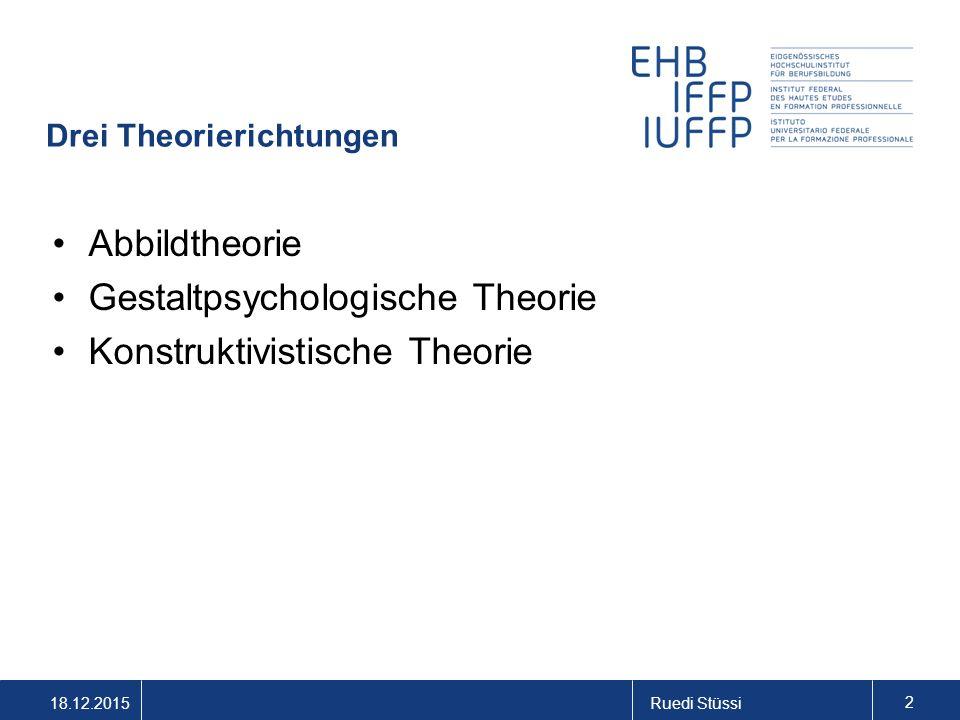 Drei Theorierichtungen