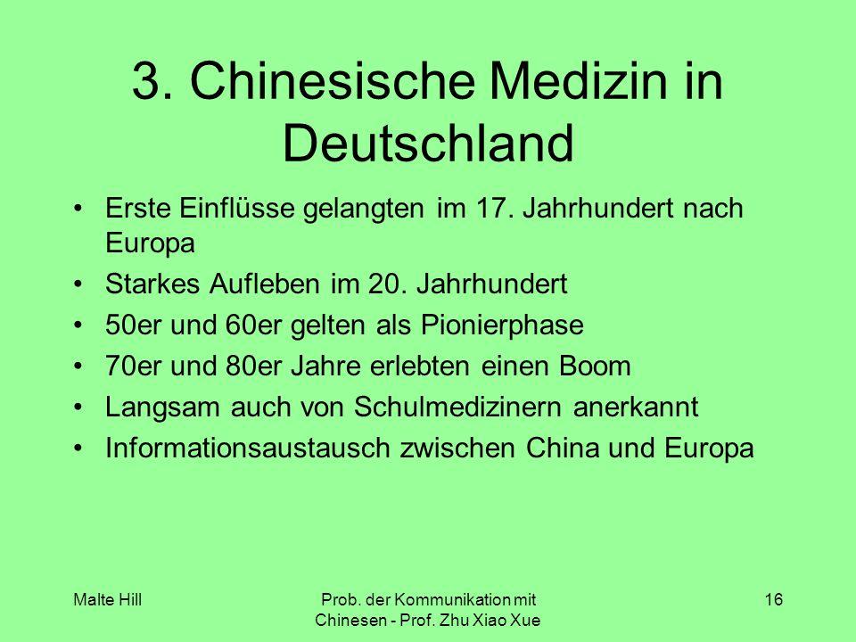 3. Chinesische Medizin in Deutschland