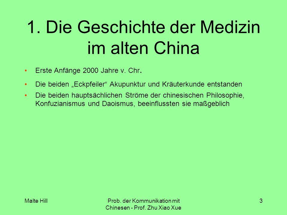 1. Die Geschichte der Medizin im alten China