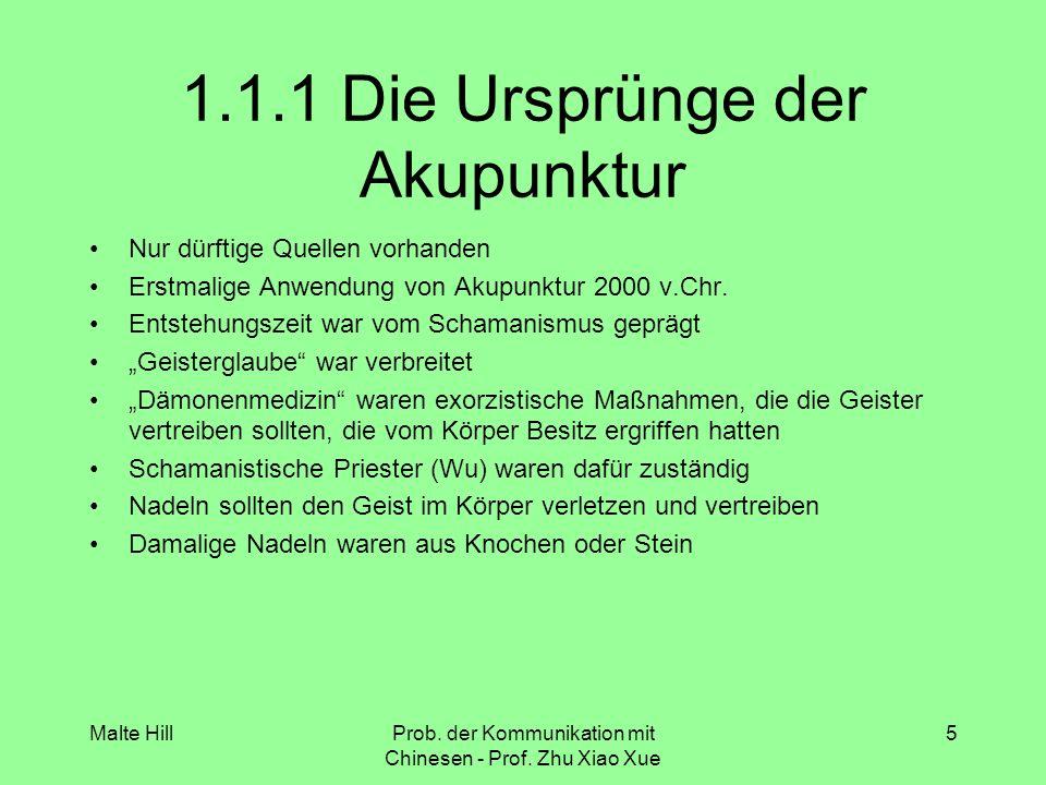 1.1.1 Die Ursprünge der Akupunktur