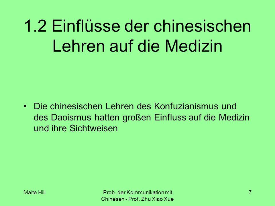 1.2 Einflüsse der chinesischen Lehren auf die Medizin