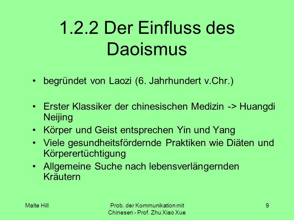 1.2.2 Der Einfluss des Daoismus