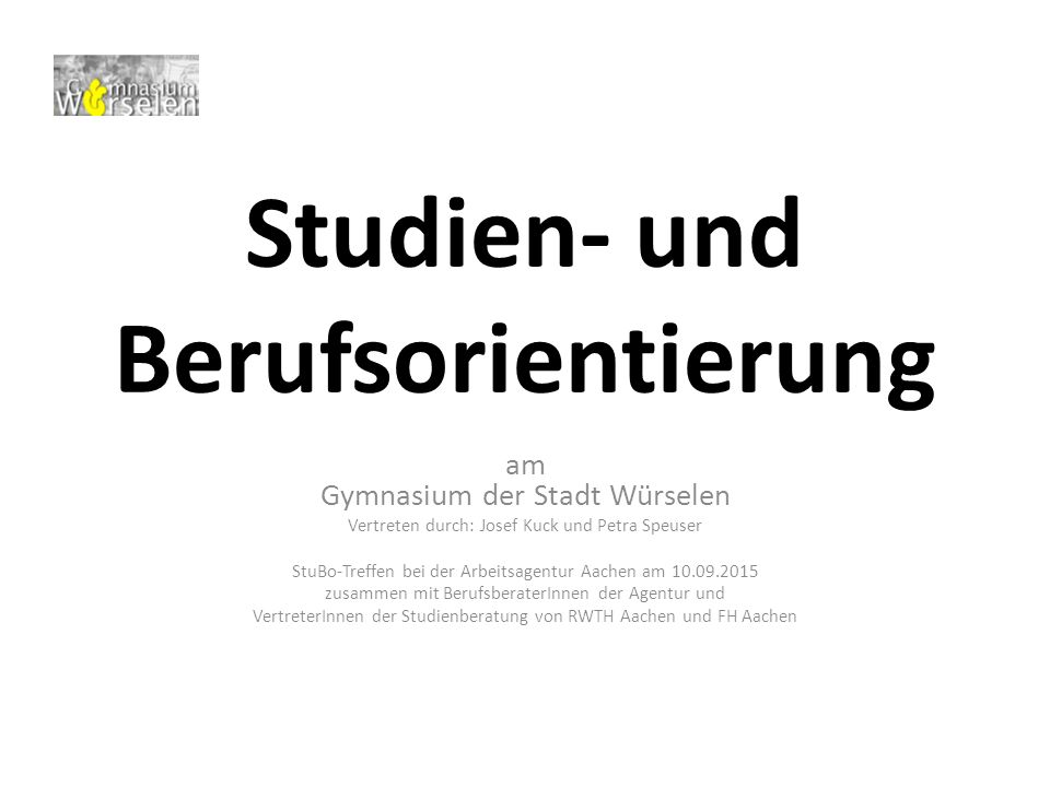 Studien- und Berufsorientierung