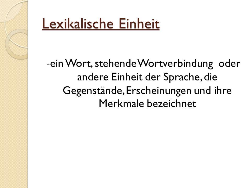 Lexikalische Einheit