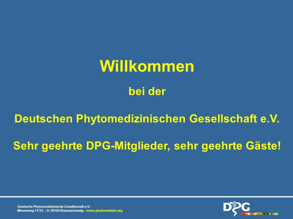 Willkommen bei der Deutschen Phytomedizinischen Gesellschaft e.V.