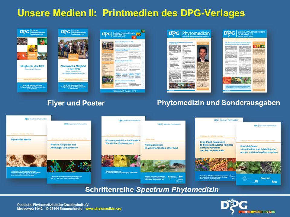 Unsere Medien II: Printmedien des DPG-Verlages