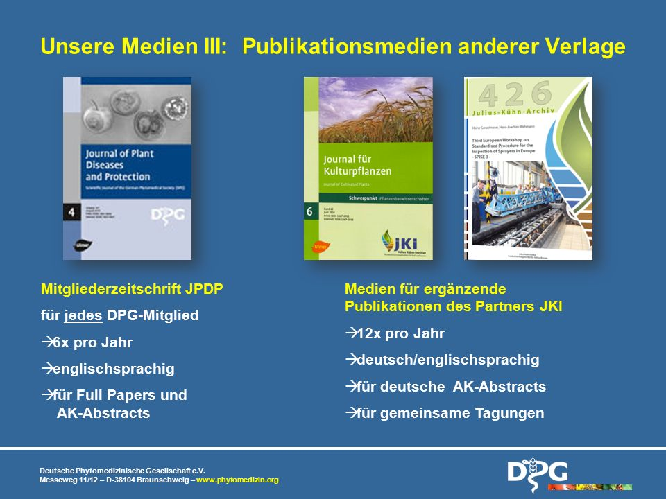 Unsere Medien III: Publikationsmedien anderer Verlage