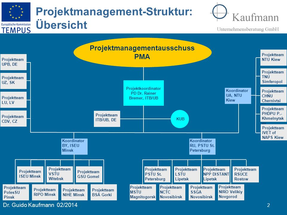 Projektmanagement-Struktur: Übersicht