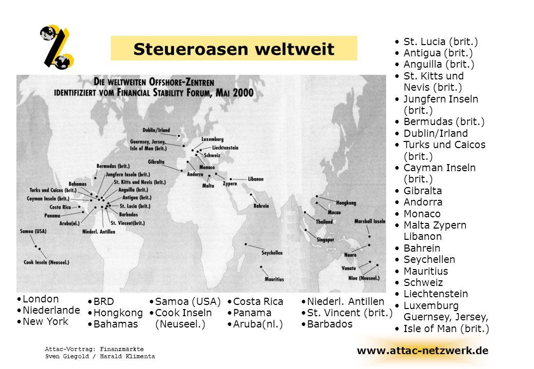 Steueroasen weltweit St. Lucia (brit.) Antigua (brit.)