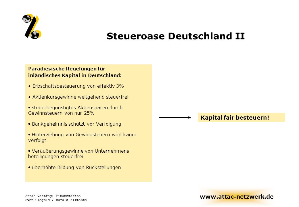 Steueroase Deutschland II