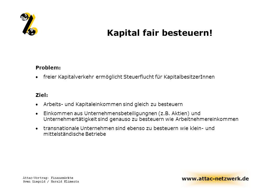 Kapital fair besteuern!