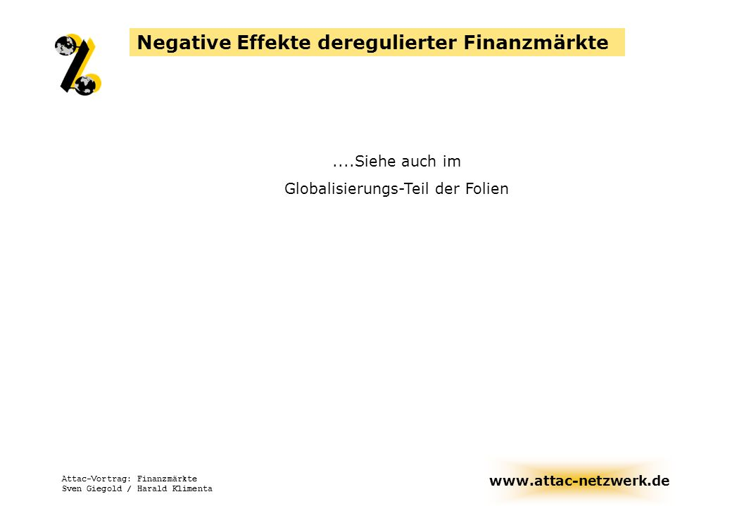 Globalisierungs-Teil der Folien