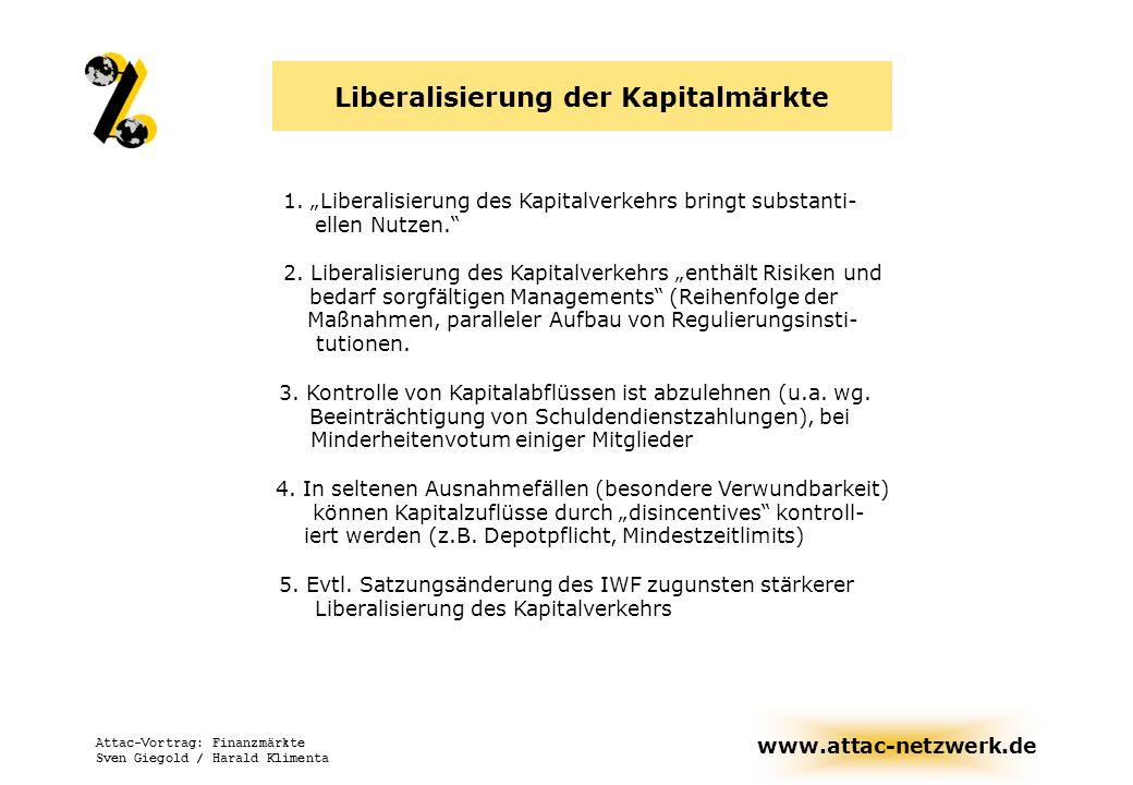 Liberalisierung der Kapitalmärkte