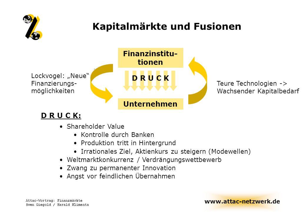Kapitalmärkte und Fusionen Finanzinstitu-tionen