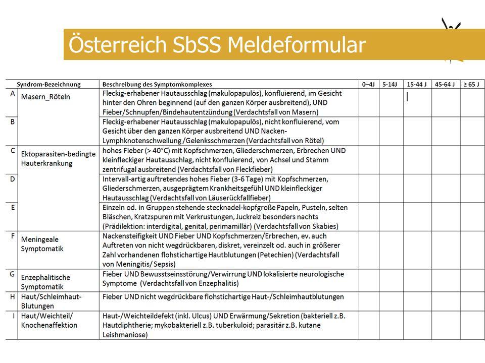 Österreich SbSS Meldeformular