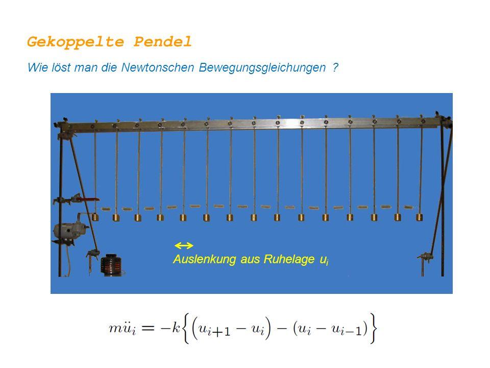 Gekoppelte Pendel Wie löst man die Newtonschen Bewegungsgleichungen