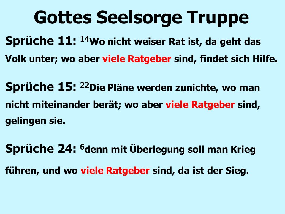 Gottes Seelsorge Truppe