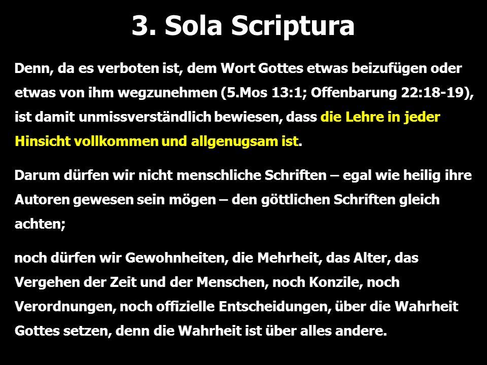 3. Sola Scriptura