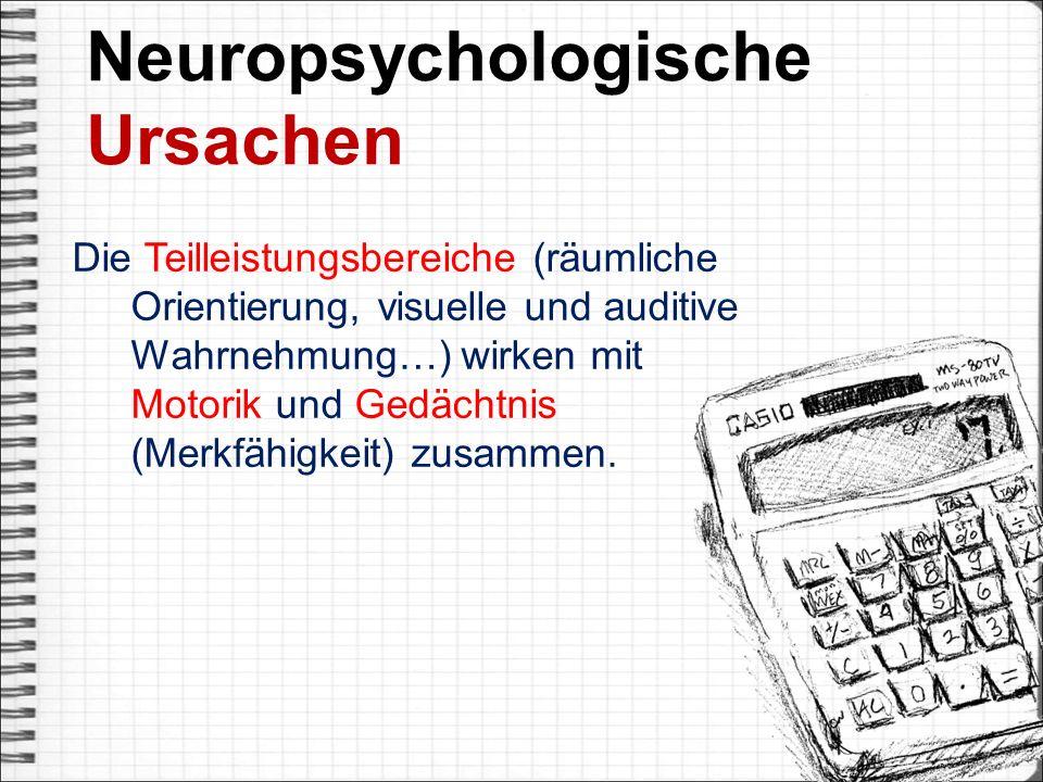 Neuropsychologische Ursachen