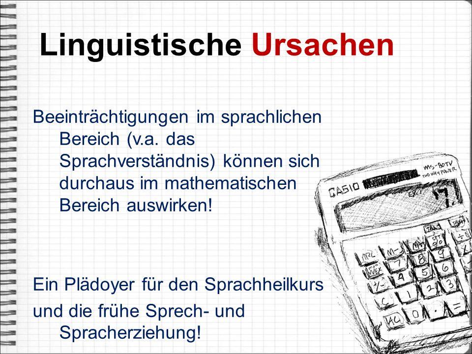 Linguistische Ursachen