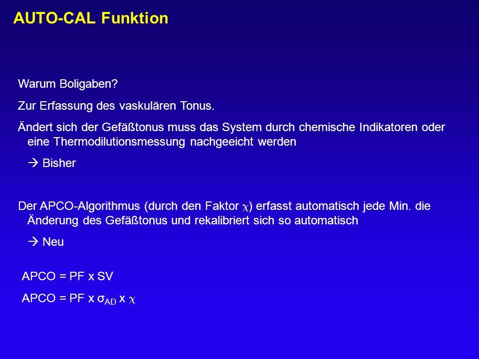 AUTO-CAL Funktion Warum Boligaben Zur Erfassung des vaskulären Tonus.