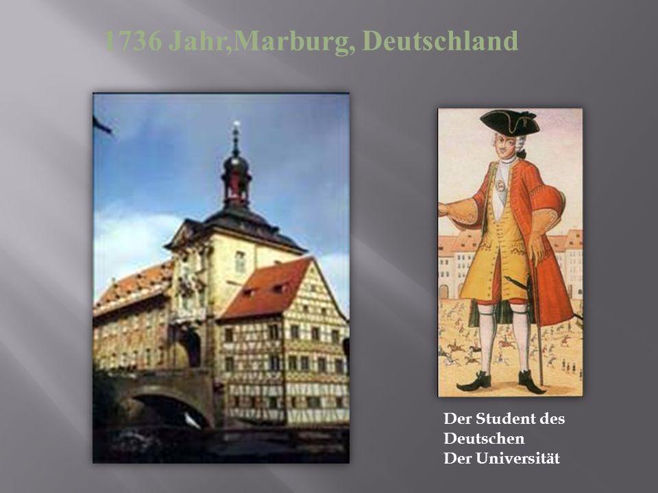 1736 Jahr,Marburg, Deutschland