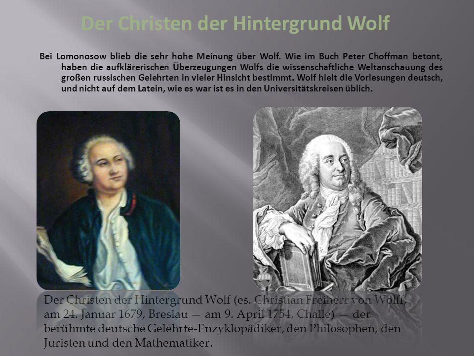 Der Christen der Hintergrund Wolf