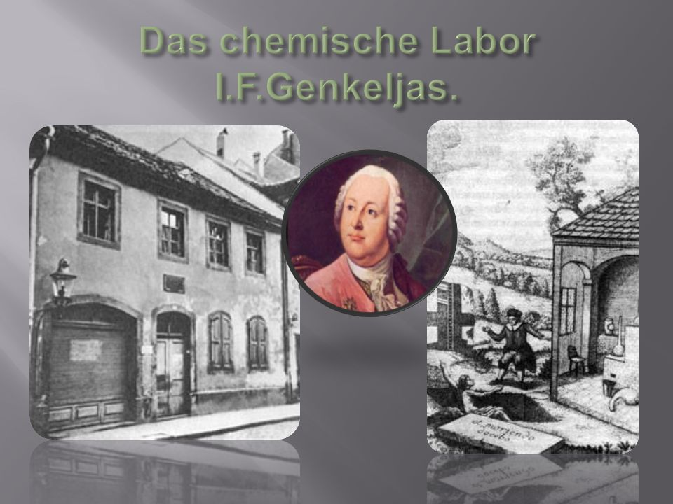 Das chemische Labor I.F.Genkeljas.