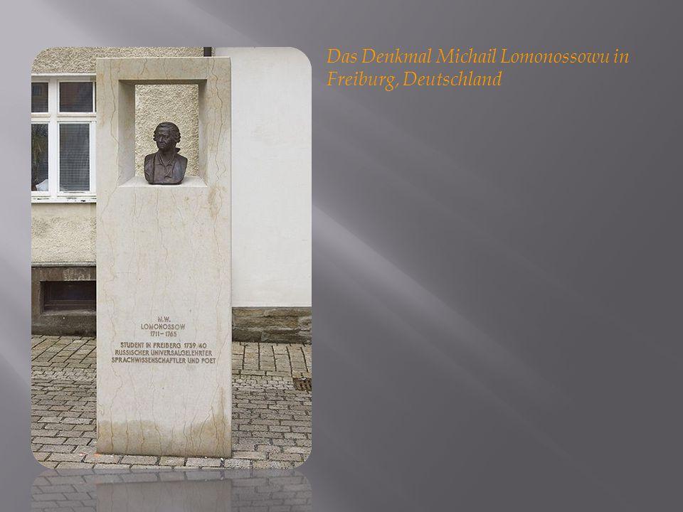 Das Denkmal Michail Lomonossowu in Freiburg, Deutschland