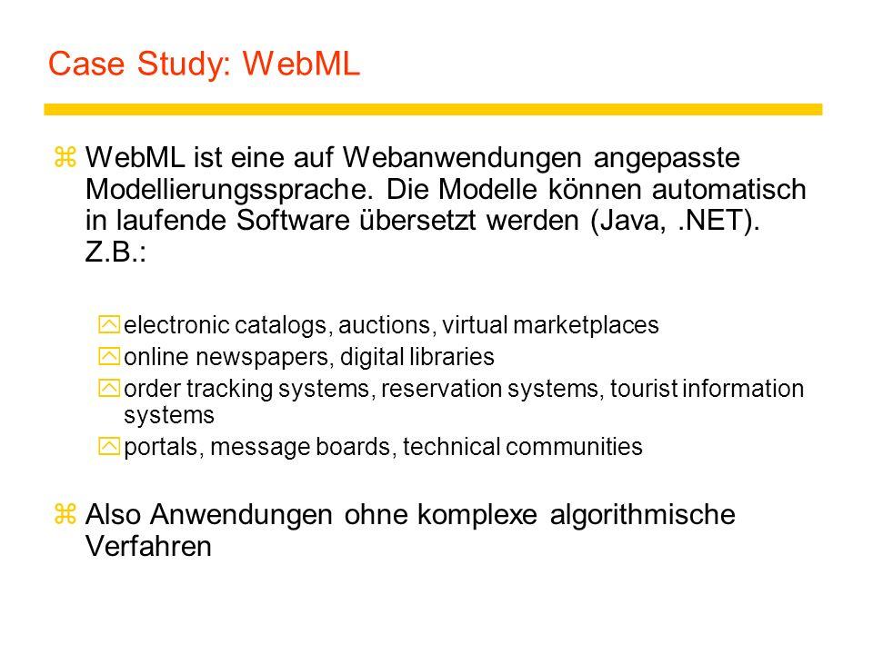 Case Study: WebML