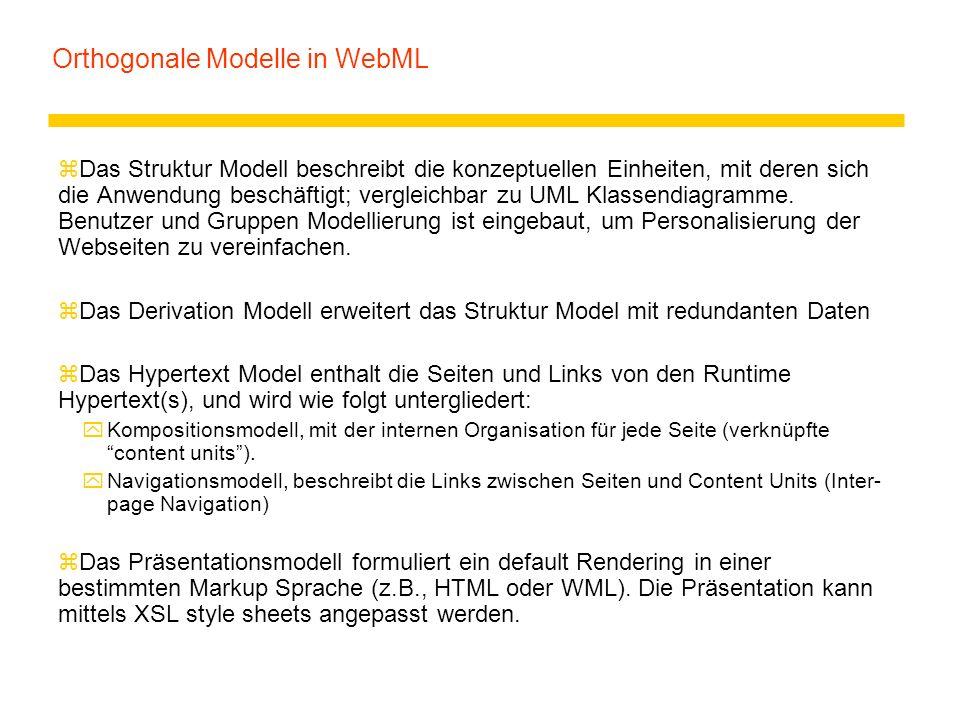 Orthogonale Modelle in WebML