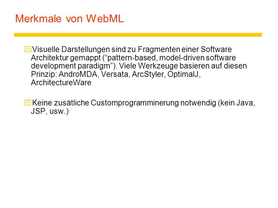 Merkmale von WebML