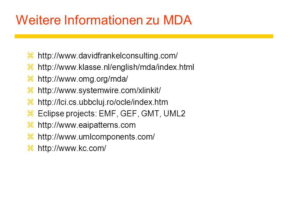 Weitere Informationen zu MDA