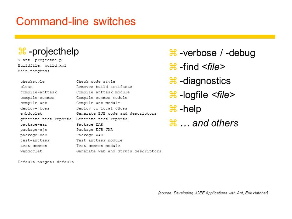Command-line switches