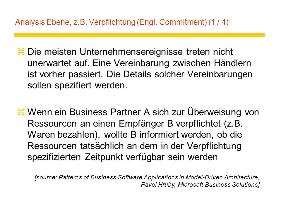 Analysis Ebene, z.B. Verpflichtung (Engl. Commitment) (1 / 4)