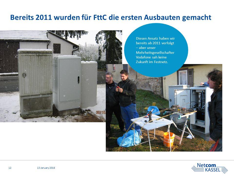 Bereits 2011 wurden für FttC die ersten Ausbauten gemacht