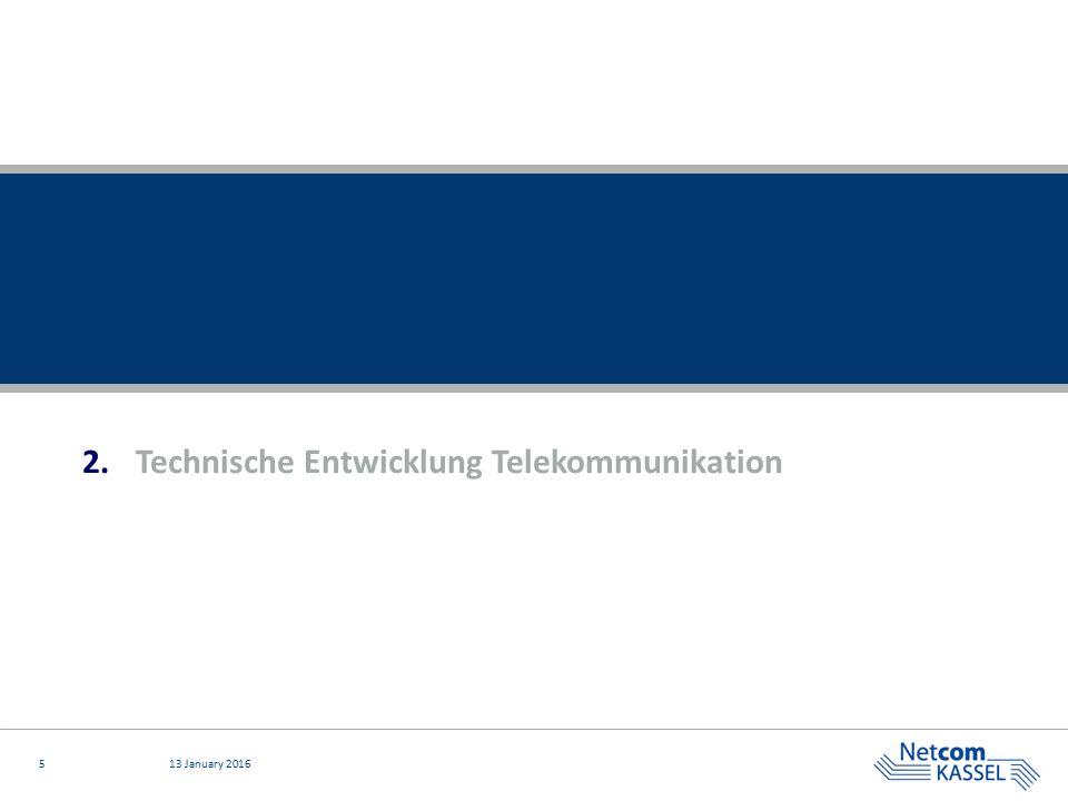 Technische Entwicklung Telekommunikation