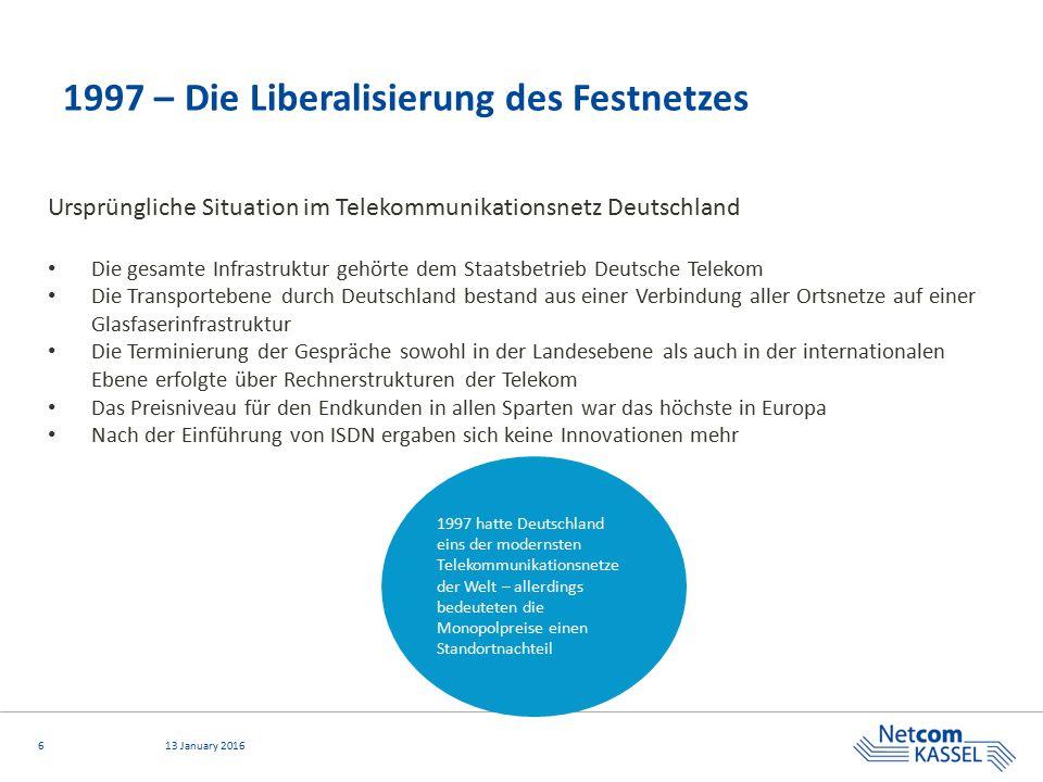 1997 – Die Liberalisierung des Festnetzes