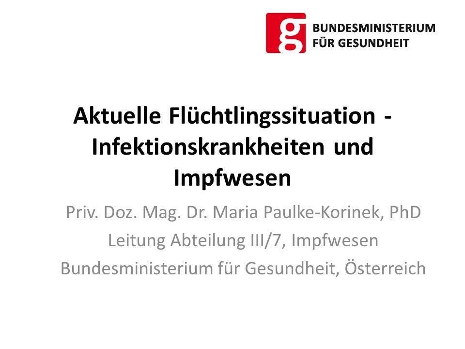Aktuelle Flüchtlingssituation - Infektionskrankheiten und Impfwesen