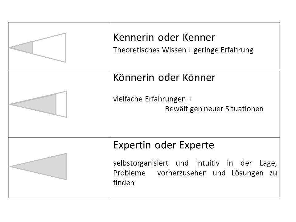 Kennerin oder Kenner Könnerin oder Könner Expertin oder Experte