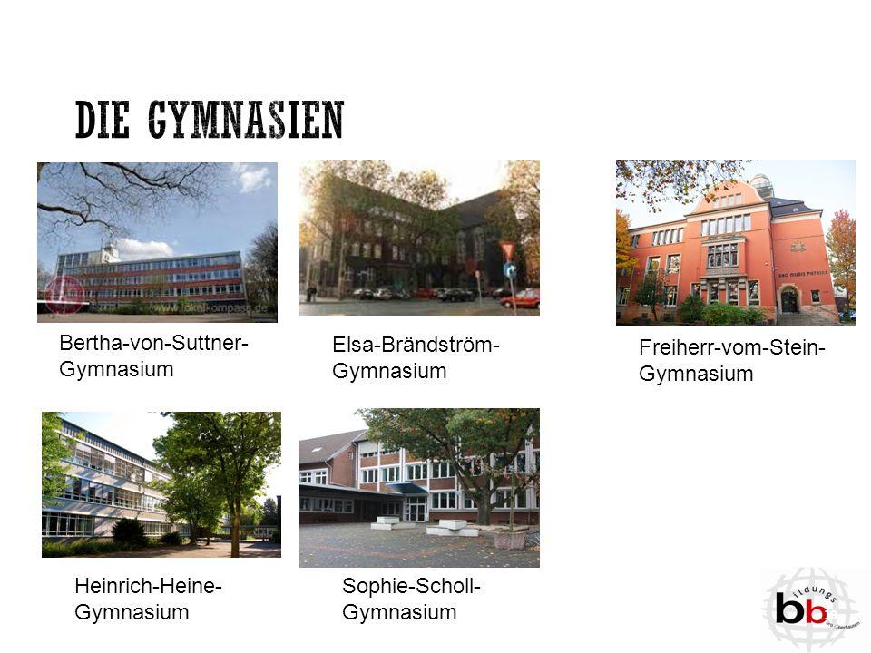 Die Gymnasien Bertha-von-Suttner-Gymnasium Elsa-Brändström-Gymnasium