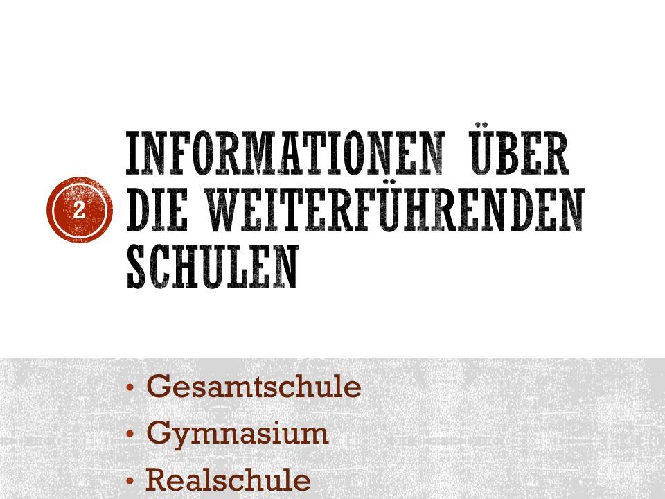 Informationen über die weiterführenden schulen