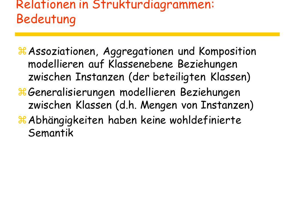 Relationen in Strukturdiagrammen: Bedeutung