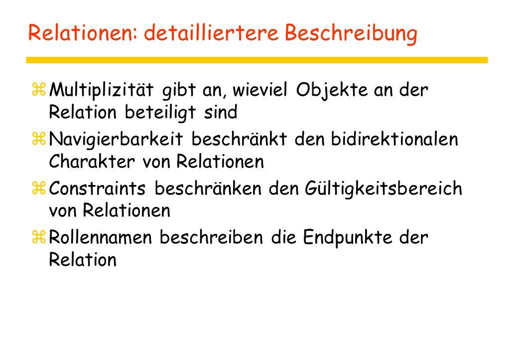 Relationen: detailliertere Beschreibung